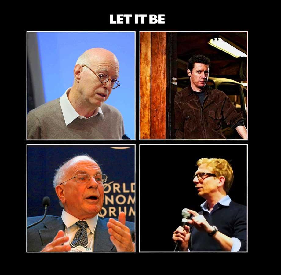 De gauche à droite et de haut en bas : R. Sennett, M. Crawford, D. Kahneman, G. Bronner